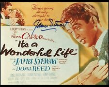 "It's a Wonderful Life Window Card 10""x8"" Jimmy Stewart Photographic RP Signed"