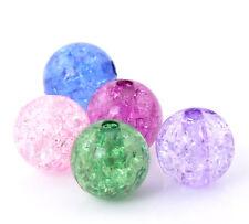 250 HOT Moda Misto Distanziatori Perle Perline Crepa in Acrilico 12mm