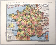 Catal. 1938 Cartes Murales VIDAL-LABLACHE scolaire : tableaux muraux frises.. BE