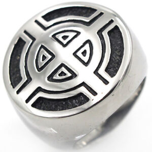 Mens Jewelry Stainless Steel Cast Ring military school officer Sniper Sight Army