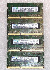Samsung 4 GB (4X1GB) DDR3 10600S SODIMM Ram for Laptop/Mini PC Free Shipping