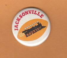 1970s WFL WORLD FOOTBALL LEAGUE JACKSONVILLE EXPRESS PINBACK BUTTON Unsold Stock