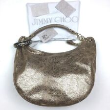 a0ae8a43e254 Jimmy Choo Solar Golden Metallic Cracked New Retail Gold Leather Hobo Bag-  NEW