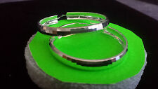 Sterling silver 925, Hoop Earrings, 4.5cm imported from Taxco Guerrero MX