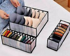 New Underwear Organizer for closets space saving set 3pc bra socks briefs drawer