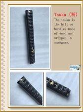BROWN leather real rayskin ito Tsuka handle for JP Samurai KATANA Swords