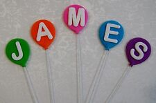 BALLOONS EDIBLE ON WIRES WITH A LETTER OR NUMBER - 4CM - $1.00 EACH.... WOW!!