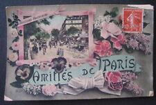 FRANCE 1913? Paris postcard showing inset of  BOULEVARD MONTMARTRE