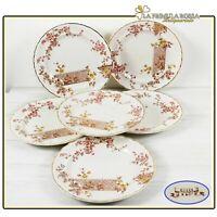 Set servizio di piatti antichi inglesi in ceramica Keeling & Co piatto piano