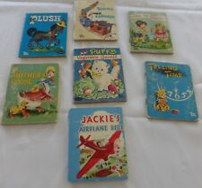 """LOT OF 7 1950'S CHILDREN'S BOOKS VINTAGE WHITMAN """"TINY BOOKS"""" 3 BY 4 INCHES"""