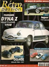 RETRO PASSION 106 JAGUAR TYPE E V12 CABRIOLET PANHARD DYNA Z 16 1958 BMW 700
