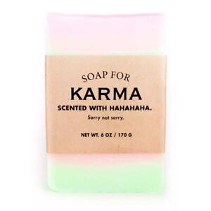 Scented 6oz Handmade Novelty Soap For Karma Smells Like Indian Sandalwood