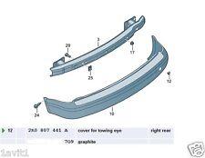 NEW GENUINE VW CADDY REAR BUMPER TOW EYE COVER 2K0807441A 9B9