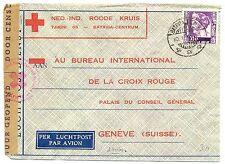 NED INDIE DUTCH INDIES 1940-1-10  RED CROSS-CENSOR PM-BATAVIA- TO SWITZERLAND