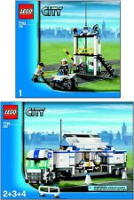 (Instructions) for LEGO Set 7743 Police Command Center  BOOK 1 & 2 Manual ONLY