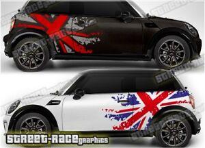 Mini Rally 027 racing motorsport graphics stickers decals vinyl - UNION JACK