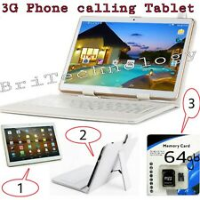 10 inch ANDRIOD phablet tablet with sim slot 64GB MEMORY CARD AND KEYBOARD CASIN