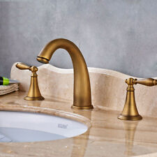 Vintage Widespread Bathroom Basin Faucet Dual Handle Sink Mixer Tap Three Holes