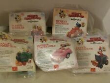 Vintage 1988 Mickey's Birthdayland McDonald's Toys All 5 Collectibles in package