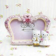 Hello Kitty PolyResin Photo Frame Home Decor Hand painted Wedding Gift