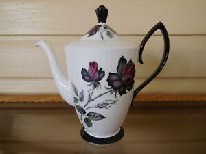 """Royal Albert """"Masquerade"""" Coffee Pot England 1950s"""