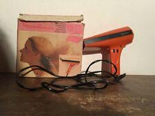 MOULINEX - SECHE CHEVEUX ancien, vintage orange Fonctionne Boîte D'origine