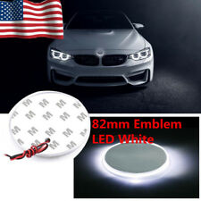 US 82mm White Badge Emblem LED Background Light Sticker For BMW 3 5 7 X Series