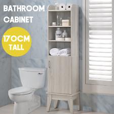 SVEN Bathroom Tallboy Cabinet Storage Laundry Cupboard Toilet Furniture Shelf