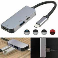 Type C-Hub Dock adaptateur HDMI USB 3.0 avec HDMI 4K PD charge pour MacBook