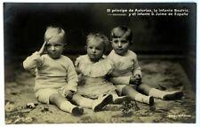 Cartolina Originale El Principe De Asturias,La Infanta Beatriz,Y El Infante