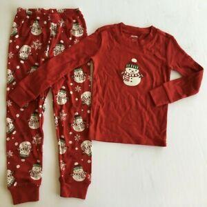 New Gymboree 2008 Red Snowman Matching Holiday Family Sleepwear 2-Piece Pajamas