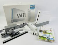 Nintendo Wii Sports White Home Console RVL-001 Complete in Box FULLY TESTED