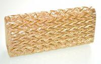 SAC femme pochette doré cérémonie clutch bag métallique élégante de soirée 1235
