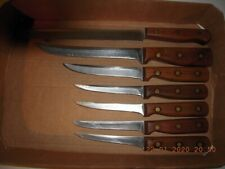 Vintage Chicago Cutlery Traditional Walnut 7 Pieces - Made in USA