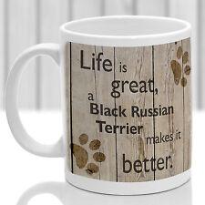 Terrier ruso negro taza, Ruso Negro Regalo, Ideal Regalo Para Perro Amante