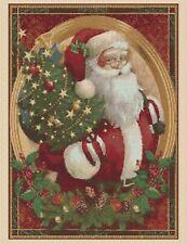 Cross stitch chart  santa claus father christmas 550-13  FlowerPower37 -uk