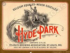 Hyde Park Non Alcoholic Beverage NEW Metal Sign: St. Louis Brewing Association