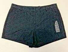 ELLE Women's Sz. 8 Black Embroidered Floral Chino Shorts NEW Free Shipping