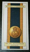 ROYAL WARWICKSHIRE REGIMENT     Original 1916 Vintage  Ribbon & Badge Card