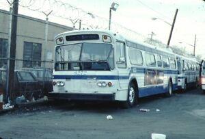 New York City Transit Flxible bus Kodachrome original Kodak slide