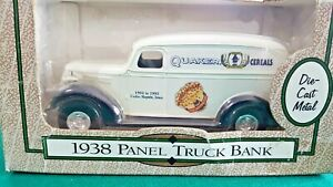 1938 Panel Truck Coin Bank Quaker Oats Cereals Ertl 1/25 Scale Die Cast NIB