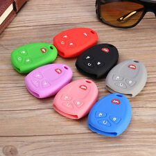 Silicone Car Remote Key Case Fob Cover fit Buick GMC Chevrolet Cadillac 4 Button