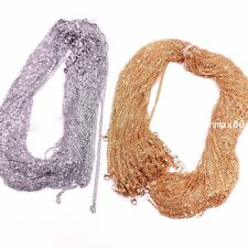 Wholesale In Bulk Lots Of Silver/Gold Stainless Steel Rolo Link Chain Necklace