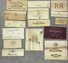 Lot of 15 Wooden Wine Wood Panels Box Crate - Free Shipping Lot 3
