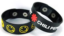 NIRVANA RED HOT CHILI PEPPERS NEW! 2pcs(2x) Rubber Bracelet Wristband ww149