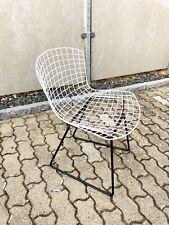 ORIGINALE Knoll International Harry Bertoia Chair Wire sedia filo bianco e nero