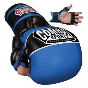 Combat Sports Max Strike MMA Training Gloves - Blue - XL