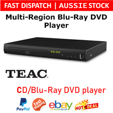 TEAC Multi Region Free Blue Blu Ray Player CD Disc HDMI USB DVD Upscaling Media
