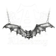 Alchemy of England Gothic Bat Antique Pewter Necklace