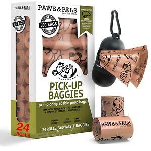 Poop Bags for Dogs -Pet Dog & Cat Natural Unscented Biodegradable Waste Poo Bag